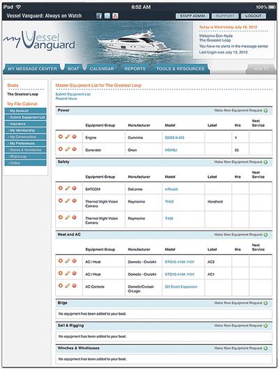 VesselVangaurd web page