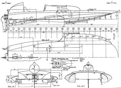 hydroplane drawing