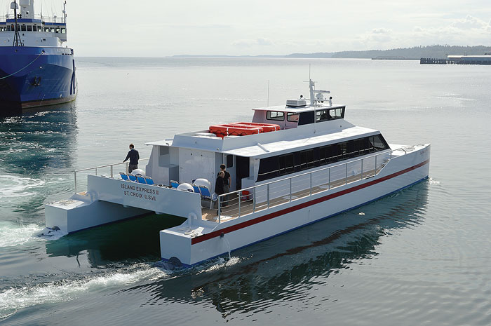 The 72-foot Island Express III ferry.