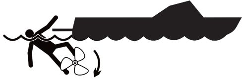 propeller transom danger label