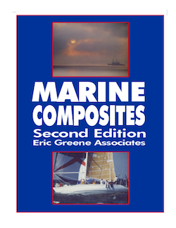 "Originally published as a paperbound volume in 1999, naval architect Eric Greene's masterwork ""explores the technologies required to engineer advanced composite materials for large marine structures."" His book is available today as downloadable pdf files."